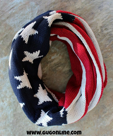 Super Soft American Flag Infinity Scarf