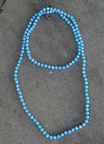 Pink Panache 38 Inch Crystal Layering Necklace in Blue