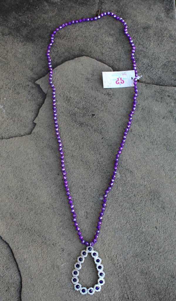 Pink Panache Necklaces Jewelry Purple Crystals