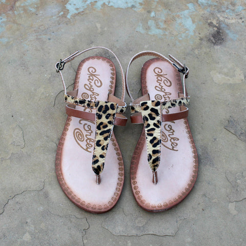 Gemma Hair on Hide Sandal in Leopard - Size 6 and 6.5 Only