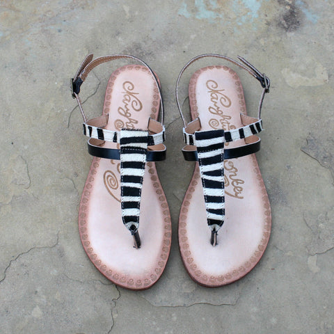 Gemma Hair on Hide Sandal in Zebra