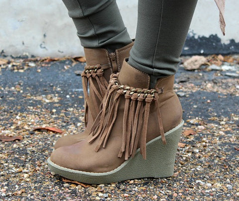 Sail Ankle Bootie in Tan