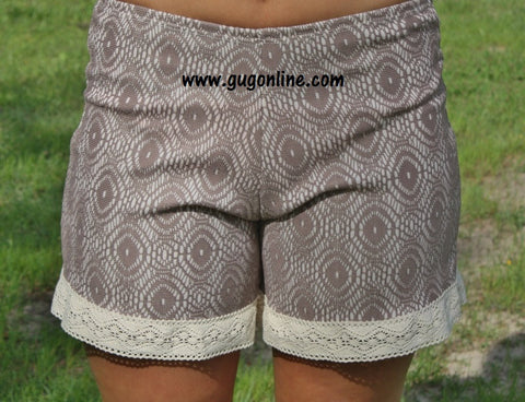 Just in the Knit of Time Mocha Shorts