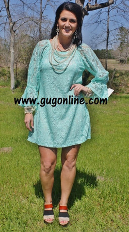Lace The Facts Dress in Mint