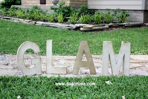 Large Rustic Metal Letters