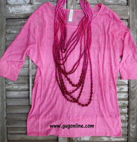 Light Pink Animal Print Simple Tunic