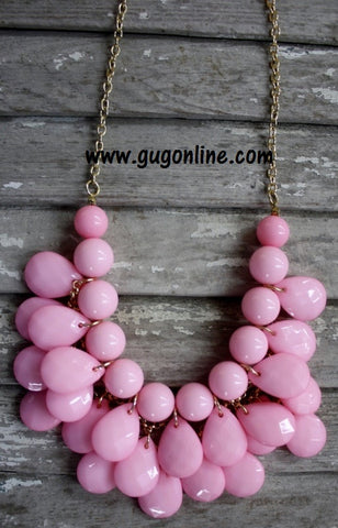 Light Pink Mini Bib Necklace
