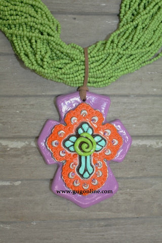 Little Senorita in Purple Clay Pendant