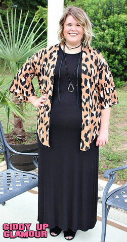 Don't Give Me the Cold Shoulder Maxi Dress in Black