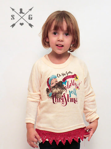 Childrens: Holly Jolly Christmas Dolman Top