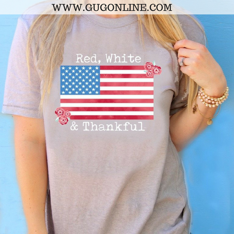 Red, White & Thankful Short Sleeve Tee Shirt