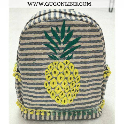 The Emily Backpack - Striped Pineapple