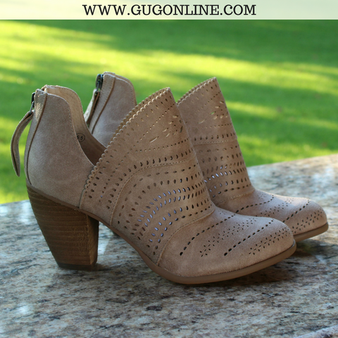 Cinati Heeled Booties in Cream - Size 8.5 and 10