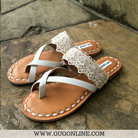 She Lacey Sandals in Cream