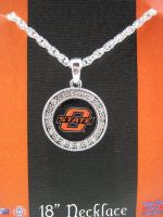 Colliegiate Jewelry - OSU Necklace with Crystals