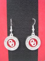 Colliegiate Jewelry OU Earrings with Crystals
