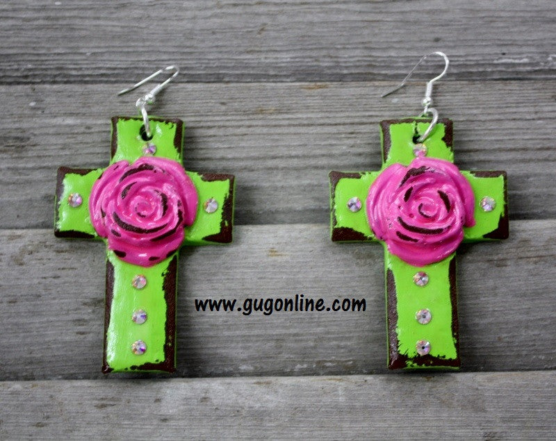 Polymer Clay Earrings Cross Jewelry