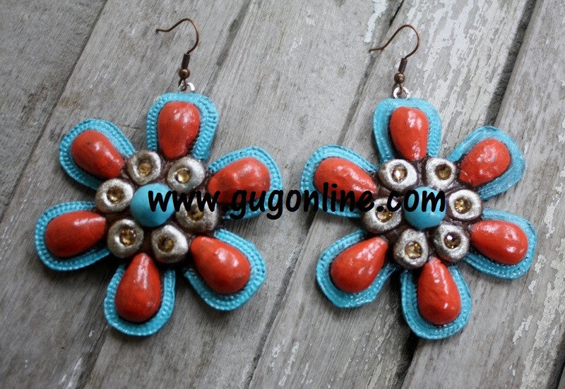 Polymer Clay Earrings Flower Hippie Jewelry