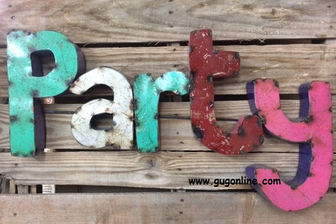 Rustic Metal 3D Party Sign