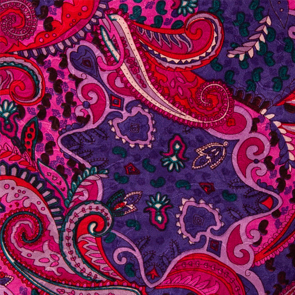 Paisley Wild Rag in Pomegranate