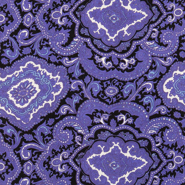 Paisley Wild Rag in Purple and Black