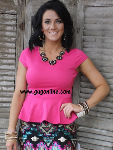 Put Some Pep in Your Peplum Top in Pink
