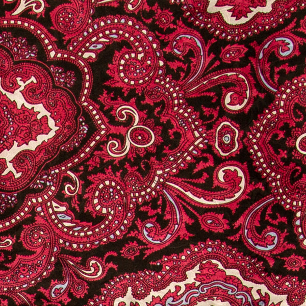 Paisley Wild Rag in Red and Black