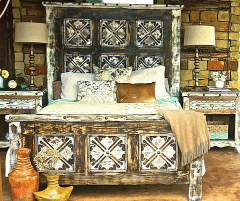 Rustic Reyna Headboard and Footboard