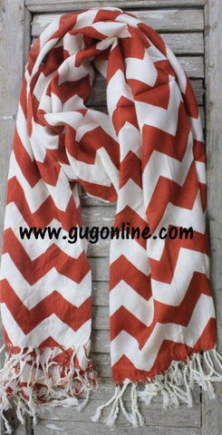 Rust Chevron Scarf