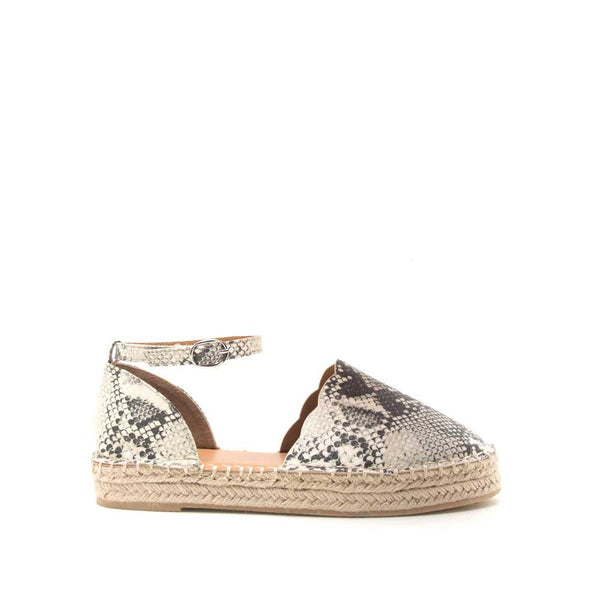 Sequoia Scalloped Edge Espadrille Flats in Snake