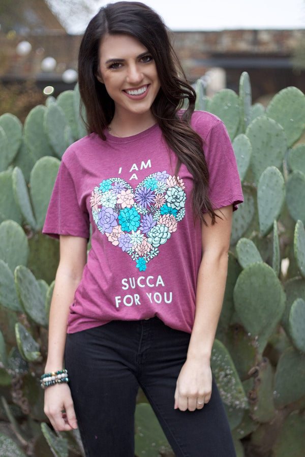 I'm A Succa For You Short Sleeve Maroon Tee Shirt