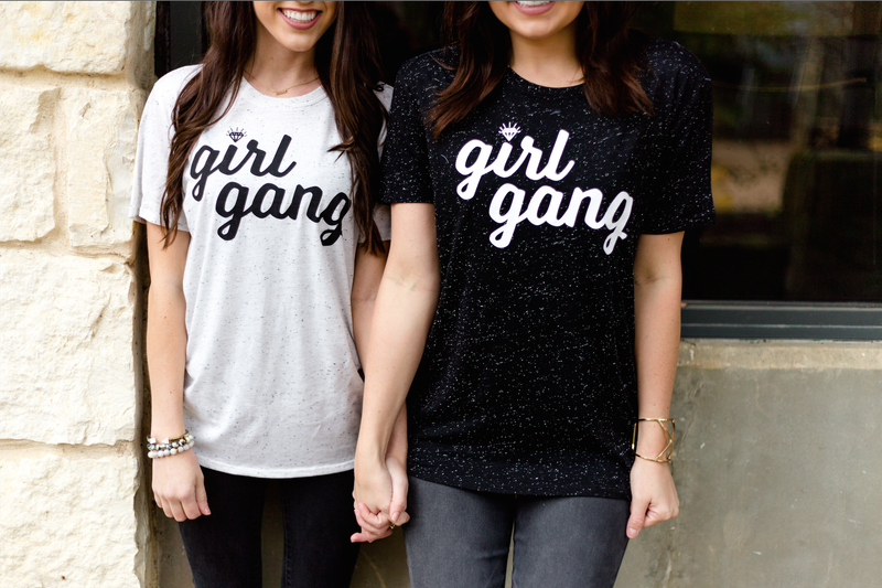 Girl Gang Short Sleeve Tee Shirt - Black