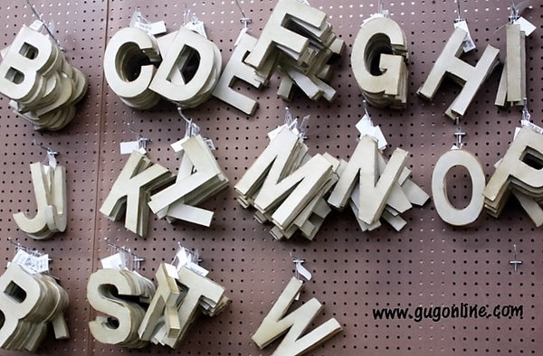 Small Rustic Metal Letters