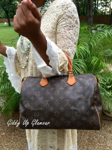 Authentic Used Louis Vuitton Speedy 30 Monogram Purse