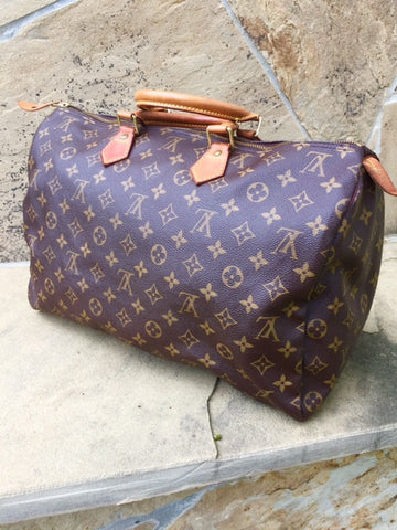 Authentic Used Louis Vuitton Speedy 40 Monogram Purse or Small Duffle Bag