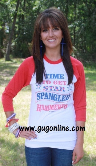 Star Spangled Hammered Baseball Tee