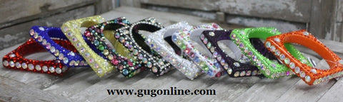 Super Crystal Bracelets in Assorted Colors in Red