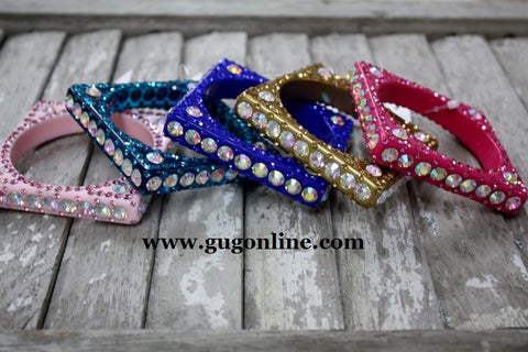 Super Crystal Bracelets in Assorted Colors in Hot Pink