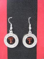 Colliegiate Jewelry Texas Tech Earrings with Crystals