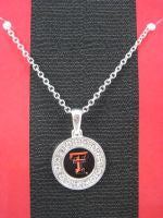 Colliegiate Jewelry - Texas Tech Necklace with Crystals