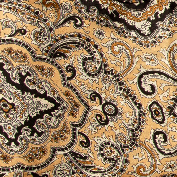 Paisley Wild Rag in Tan and Black