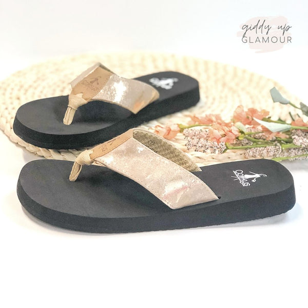Corky's | Clover Cushion Flip Flops in Taupe