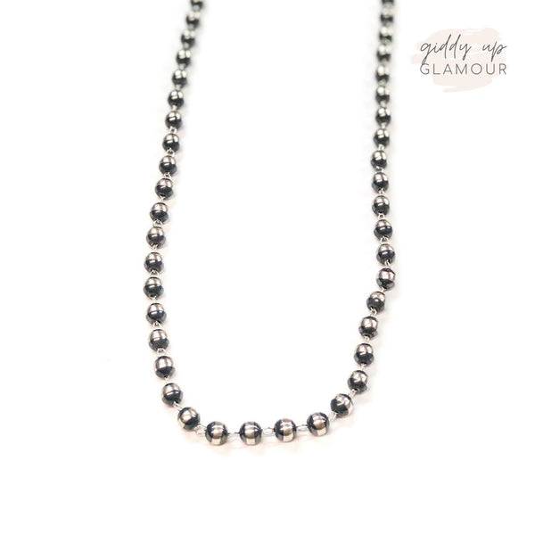 Navajo | Authentic Native American Lariat Navajo Pearls 9mm Necklace | 30 inches