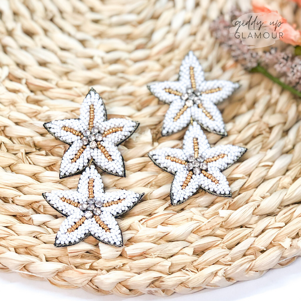 Coastal Cutie Double Beaded Sea Star Drop Earrings