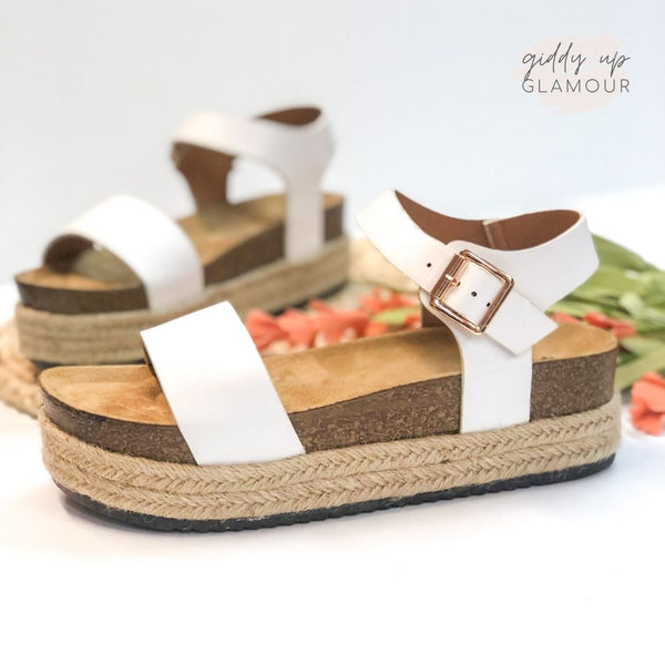Meet Me in Cabo Espadrille Sandals in White