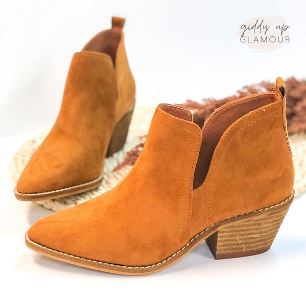 Corky's | Time To Go Ankle Slit Slide in Booties in Brown