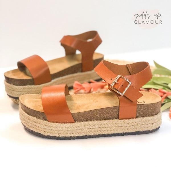 Meet Me in Cabo Espadrille Sandals in Cognac