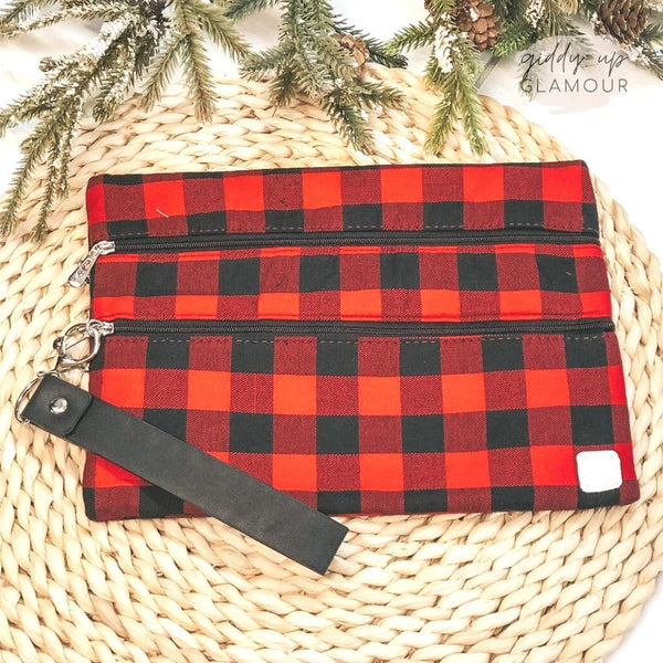 Plaid Promises | The Versi Two Pouch Bag in Buffalo Plaid