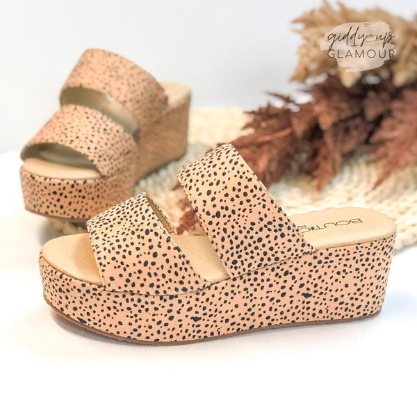 Corky's | Shamrock Double Strap Flatform Sandals in Cheetah