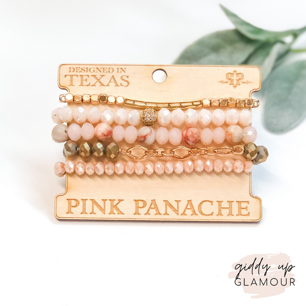 Pink Panache | Pink and Gold Bracelet Set
